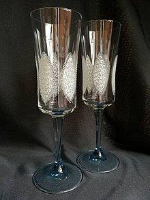 Nádoby - Svadobné poháre modré šampus - 10271655_