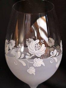 Nádoby - Svadobné poháre s folklórnym vzorom - 10271683_