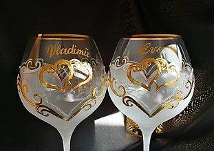 Nádoby - Svadobné poháre vzor č. 41 - 10272120_