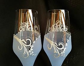 Nádoby - Svadobné poháre vzor č. 71 - šampus - 10272162_