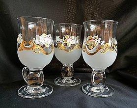 Nádoby - Súprava pohárov na kávu - vzor č. 13 so zlatom - 10273102_
