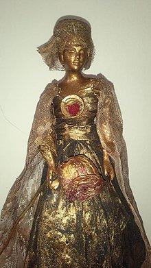Socha - výpredaj socha z paverpolu (dáma v klobúku) - 10271837_