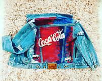 Kabáty - Ručne maľovaná riflová bunda - 10273787_