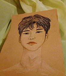 Kresby - Portrét speváka - 10273569_