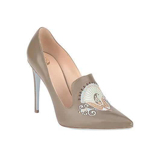 Dámske kožené topánky s výšivkou hnedé   PLZR - SAShE.sk - Handmade ... 0c422b4c33a