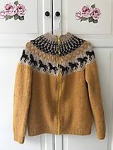 Svetre/Pulóvre - Isladnský sveter s koníkmi (Tradičná lopapeysa) - 10272382_