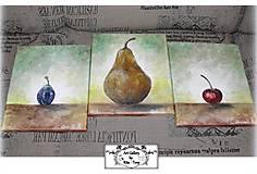 """Obrazy - Malba na plátne """"Ovocné trio 2."""" :) - 10273409_"""