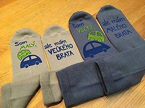 Topánočky - Detské maľované ponožky pre malého a veľkého brata - 10273946_