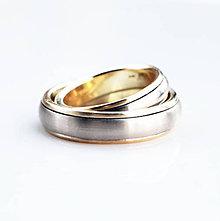 Prstene - White & yellow bands - 10276678_