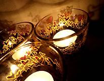 Svietidlá a sviečky - Farebné srdiečka - maľovaný sklenený svietniček - na objednávku - 10275873_
