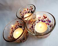 Svietidlá a sviečky - Farebné srdiečka - maľovaný sklenený svietniček - na objednávku - 10275881_