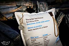Úžitkový textil - Vankúšik turistický - barometer - 10276463_