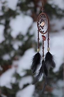 """Dekorácie - lapač snov """"staré povesti indiánov"""" - 10275811_"""