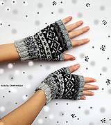 Rukavice - Rukavice prstové na zákazku - 10276015_