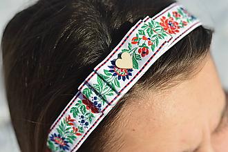 Ozdoby do vlasov - Folklórna čelenka s mašľou - 10275246_