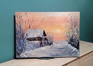 Obrazy - Zimná krajinka - 10276219_