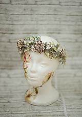 Ozdoby do vlasov - Kvetinový prírodný venček - 10274111_