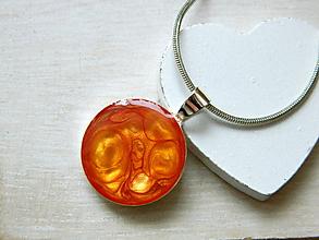 Iné šperky - Prívesok orange - 10276502_