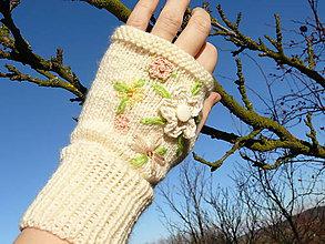 Rukavice - Vyšívané bezprstové rukavičky - 10274439_