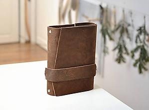 Papiernictvo - Kombinovaný kožený zápisník DIMITRIJ - 10275355_