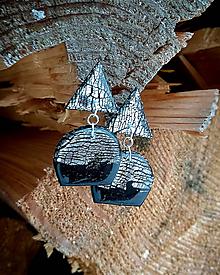 Náušnice - Minimalistické visiace náušnice - trojuholník - 10275201_