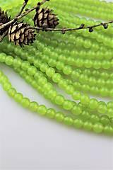 Minerály - jadeit bledučkozelený korálky 8mm - 10276772_
