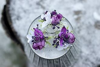 """Prstene - Prstienok kvetinový """"Fialová ostrožka"""" - 10277306_"""