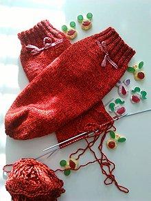 Obuv - Červené ponožky..... - 10275182_