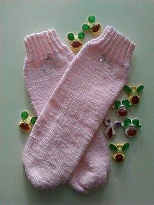 Obuv - Ružové ponožky.... - 10275252_