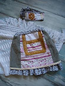 Detské oblečenie - Sukňa s čelenkou