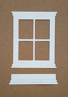 Papier - výrez okno a hrantík - 10274445_