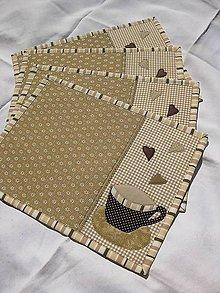Úžitkový textil - Prestieranie Kávička - 10277181_