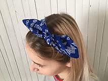Ozdoby do vlasov - čelenka čičmany modrá - 10275644_