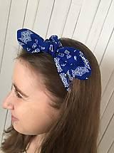 Ozdoby do vlasov - čelenka čičmany modrá - 10275645_