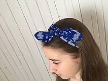 Ozdoby do vlasov - čelenka čičmany modrá - 10275649_