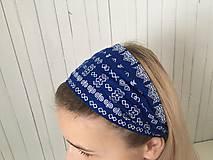 Ozdoby do vlasov - čelenka čičmany modrá - 10275650_