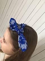 Ozdoby do vlasov - čelenka čičmany modrá - 10275651_