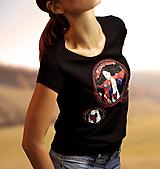 Tričká - Tričko Zaklínačka + náušnice SADA - 10276063_