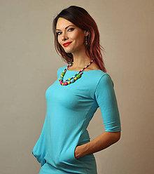 Šaty - Vreckové Mentolky - 10275455_