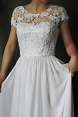 Šaty - Svadobné šaty z hačkovanej krajky - 10276752_