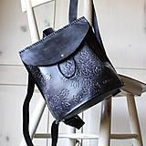 Batohy - Ručne šitý kožený batôžtek - 10274414_