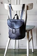 Batohy - Ručne šitý kožený batôžtek - 10274420_