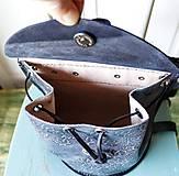 Batohy - Ručne šitý kožený batôžtek - 10274422_