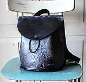 Batohy - Ručne šitý kožený batôžtek - 10274425_