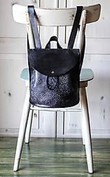 Batohy - Ručne šitý kožený batôžtek - 10274427_