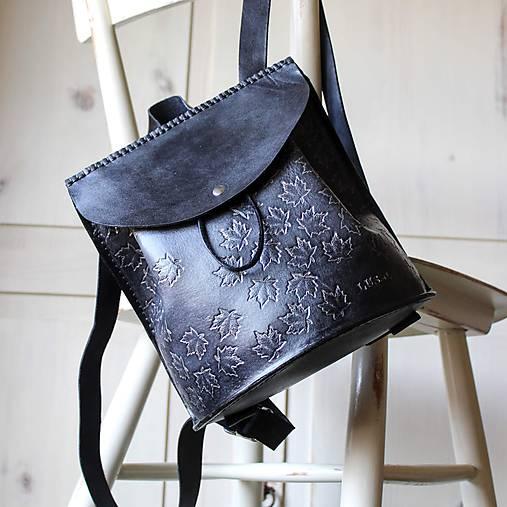 Ručne šitý kožený batôžtek
