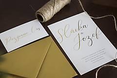 """Papiernictvo - Svadobné oznámenie """"Zlatá"""" - 10274446_"""