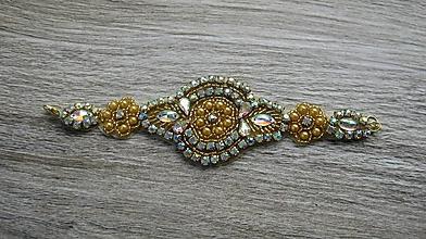 Náramky - Náramok štrasový (zlatý, č. 2541) - 10275598_