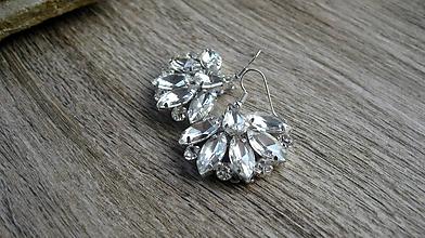 Náušnice - Náušnice kamienkové štrasové crystal, č. 2543 - 10275696_