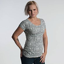 Tričká - Tričko Vanda - Mývalka v šedé - 10277072_